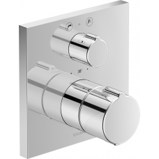 Duravit C15200013010 C.1 Термостат с запорным вентилем и переключателем, НЧ, накл.квадратн.