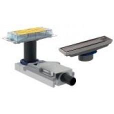 Geberit 154.150.00.1+154.455.00.1 Корпус дренажного канала CleanLine, конструкции пола высотой от 90 мм + Дренажный канал  CleanLine, для облицовки плиткой