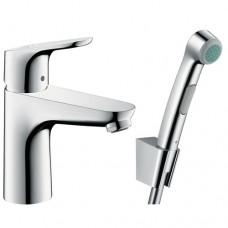 Hansgrohe 31927000 FocusE2 Смеситель для раковины с гигиеническим душем