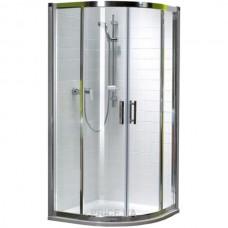 KOLO GEO 6 кабина полукруглая 80 x 80 см, двери раздвижные, закаленное стекло, серебряный блеск (кабина состоит из частей 1/2 +2/2), Reflex  (GKPG80R22003)