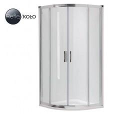 KOLO GEO 6 кабина полукруглая 90 x 90 см, двери раздвижные, закаленное стекло, серебряный блеск (кабина состоит из частей 1/2 +2/2), Reflex  (GKPG90R22003)