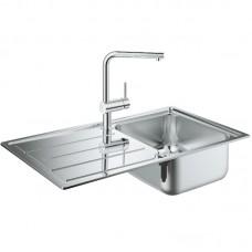 Комплект Grohe 31573SD0 : Кухонная мойка K500 31571SD0 860х500 мм + смеситель Minta 32168000