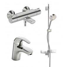 Oras 1411F7414U Комплект смесителей (1411F Polara + 7414U Nova термостат для ванны с комплектом 544)