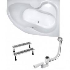 Ванна Kollerpool Montana 160x105 см правосторонняя + сифон + ножки