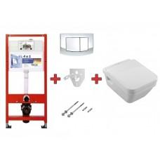 Villeroy & Boch 9400005+5685HR01 Omnia Architectura унитаз подвесной с крышкой + TECE комплект 4в1