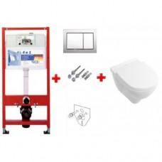 Villeroy & Boch 9400006+5684H101 Omnia Architectura унитаз подвесной с крышкой + TECE комплект 4в1