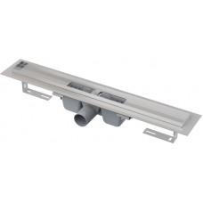 AlcaPlast APZ1 850 мм Водоотводящий желоб(трап) с порогами для перфорированной решетки