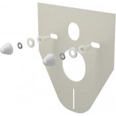 Звукоизоляционная прокладка для подвесного унитаза и для биде с принадлежностями и колпачками (белыми) Alcaplast M910