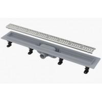 AlcaPlast APZ10 750 мм Водоотводящий желоб (трап) для душа с порогами для перфорированной решетки
