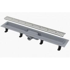 AlcaPlast APZ10 550 мм Водоотводящий желоб (трап) для душа с порогами для перфорированной решетки