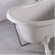 Слив c переливом для ванны Fancy Marble Lady Hamilton из литого камня. Цвет хром.