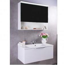 Зеркало для ванной Fancy Marble модель Okinava , цвет на быбор : белый или венге. Размер 900х237х726 мм