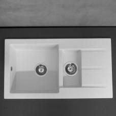 Кухонная мойка Fancy Marble Alabama 780x435x160 мм ,цвета на выбор : Белый , Светло-черный, Песочный