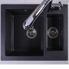 Кухонная мойка Fancy Marble Arizona 600х500х210 мм ,цвета на выбор : светло-черный, Песочный