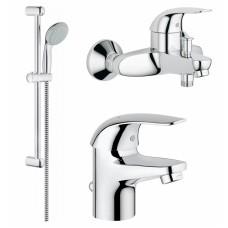 Grohe Euroeco 123226S Набор смесителей в ванну