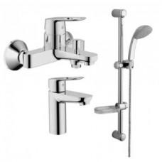 Grohe BauLoop 123214S набор смесителей для ванны 3 в 1 (23337000 + 32815000 + 28598000)