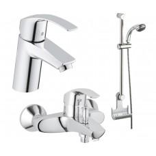Grohe Eurosmart 123238S Акционный набор смесителей для ванны 3 в 1