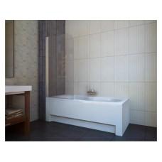 Шторка для ванны Koller Pool QP93 (левосторонняя) 750x1400 мм хром , прозрачное стекло