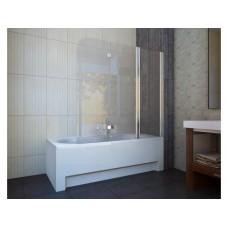 Шторка для ванны Koller Pool QP96 (правосторонняя) 1500x1400 хром , прозрачное стекло