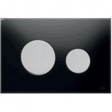 Клавиша для инсталляции TECEloop панель из черного стекла, клавиши хром матовый 9240655
