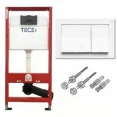 Комплект инсталляции для подвесного унитаза TECEbase 3в1 9400000 (модуль TECEbase + крепеж + панель двойного смыва TECEbase 9240700белая)