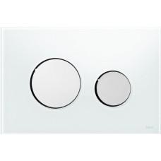 Клавиша для инсталляции TECEloop панель из белого стекла, клавиши хром глянцевый 9240660