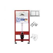Комплект инсталляции для подвесного унитаза TECEbase 4в1 9400006 (модуль TECEbase + крепеж + панель двойного смыва TECEbase 9240701хром глянец)