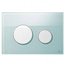 Клавиша для инсталляции TECEloop панель из зеленого стекла, клавиши белые 9240651