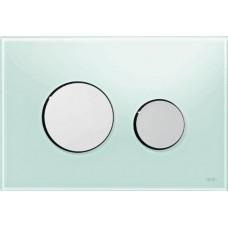 Клавиша для инсталляции TECEloop панель из зеленого стекла, клавиши хром глянцевый 9240653